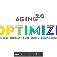 2018 Aging2.0 OPTIMIZE Conference