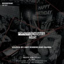 Amy Robbins & DJ Ibarra at #IndustryNight