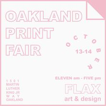 Oakland Print Fair 2018
