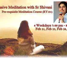 Exclusive Group Meditation with Sr BK Shivani - Pre-requisite Meditation course (RY101)
