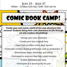 Comic Book Creations Camp