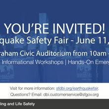You're Invited to DBI's 2019 Earthquake Safety Fair