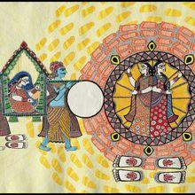 Mithila Painting Lecture Demonstration with Shalinee Kumari