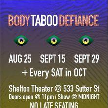 body TABOO defiance