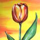 Painting and Vino: 'Fiery Tulip'