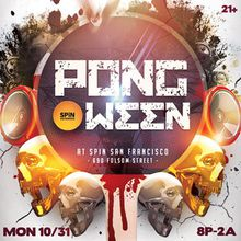PONG-O-WEEN Party at SPIN   Halloween Night   10.31.16
