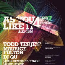 AYLI 4 Year Anniversary W/ Todd Terje, Maurice Fulton & DJ QU