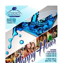Happy Hour @ Apps @ Alibi