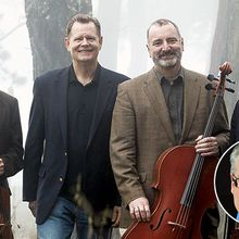 Alexander String Quartet with host and lecturer, Robert Greenberg