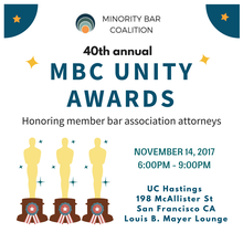 Minority Bar Coalition Unity Awards 2017