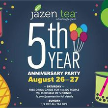 Jazen Tea 5th Year Anniversary Party