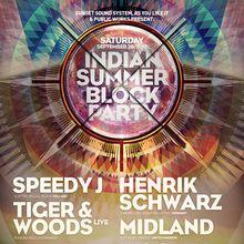 Indian Summer Block Party: Speedy J, Henrik Schwarz, Tiger & Woods live