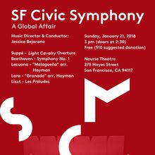 San Francisco Civic Symphony Winter Concert