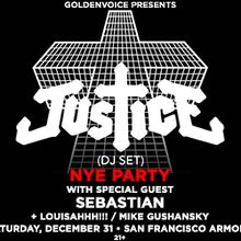 Justice NYE Party (DJ SET) - SOLD OUT