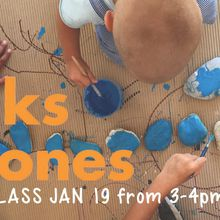 "Sample Sticks & Stones ""Art Class"" open to everyone 3-99yrs."