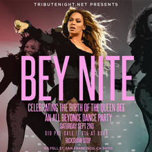 BEY NITE: Celebrating the Birth of the Queen Bee - An All Beyonce Dance Party