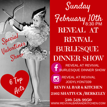Valentines Burlesque Dinner Show - Reveal at Revival