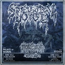 Spectral Voice with Mortiferum, Superstition, Palace of Worms in SF
