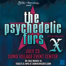 The Psychedelic Furs and X at SOMO