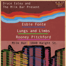 Rooney Pitchford live at Milk Bar with Lungs and Limbs / Esbie Fonte
