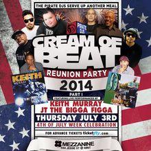 CREAM OF BEAT w/ Keith Murray & JT The Bigga Figga Live + All-Star DJ Lineup