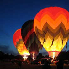 Night Bloom: Hot Air Balloon Art After Dark Experience