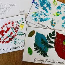 Creative Family Fun Crafts: Leaf Print Postcards