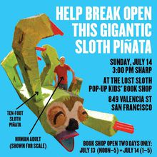 Lost Sloth Pop-Up Bookstore!