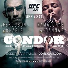 Watch UFC 223 Ferguson vs Khabib @ Condor Club SF