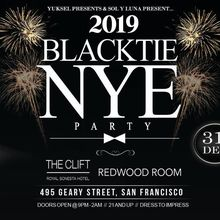 The Clift Hotel BLACK TIE New Years Eve Event at the Redwood Room & Velvet Room