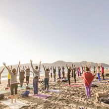 Saturday Groove: Silent Disco Beach Yoga with Julianne