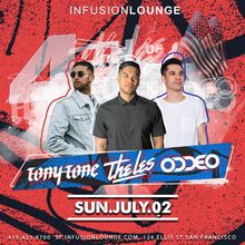 4th of July Pre-Party with DJs Tony Tone, The Les, & Oddeo