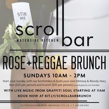 Scroll Bar Sunday Rose & Reggae Brunch