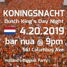 NLBorrels & Eurocircle present: The 15th Annual Dutch Kingsday Night Party or Koningsnacht 2019