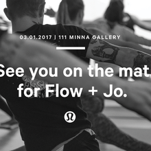 lululemon Flow & Jo: complimentary yoga + coffee