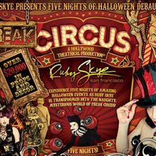 Freak Circus w/ Paul Oakenfold, Pendulum, Showtek, Arty and Jack Beats