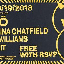 Jenö, Christina Chatfield (Live), Tyrel Williams, & Nonsuit (FREE W/ RSVP)