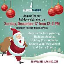 ALAMEDA LANDING HOSTS FREE HOLIDAY CELEBRATION  FOR THE COMMUNITY