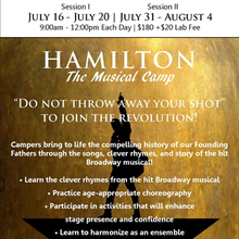 Hamilton: The Musical Camp - Session II