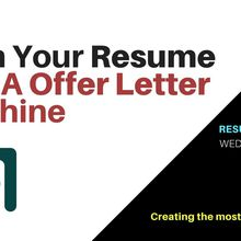 Turn Your Resume Into A Offer Letter Machine