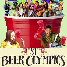 SF BEER/WINE OLYMPICS! Drinking Games + Cheap Beer/Wine + 90's Party
