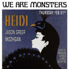 THE MONSTER MASH W/ HEIDI (JACKATHON), GREEN GORILLA & WE ARE MONSTERS DJS.